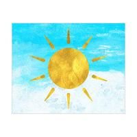 Gold Sun in an Endless Blue Sky