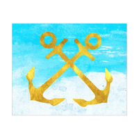 Gold Anchors in an Endless Blue Sky