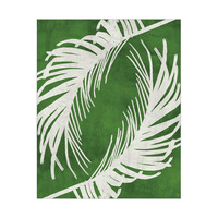 Twirling Paml Leaves Green