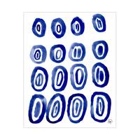 Dark Blue Ovals