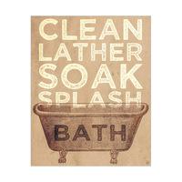 Bath Typography - Light Yellow