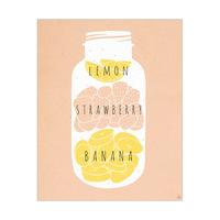 Lemon Strawberry Banana  Pale Orange