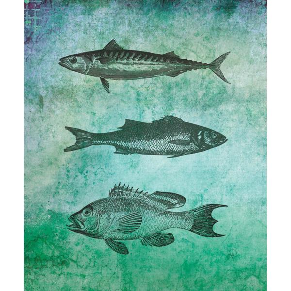 Fish Triplets - Green
