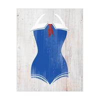 Vintage Sailor Swimsuit - Blue