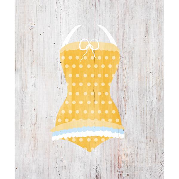 Yellow Polka Dots Swimsuit