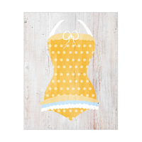 Yellow Polka Dots Swimsuit