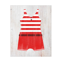 Vintage Male Swimsuit - Red Stripes