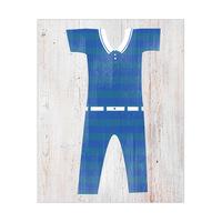 Male Bathing Suit - Blue Stripes