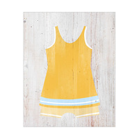 Vintage Male Swimsuit - Yellow