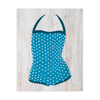 Blue Polka Dots Swimsuit