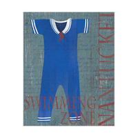Dark Male Sailor Bathing Suit