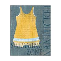 Dark Male Yellow Bathing Suit