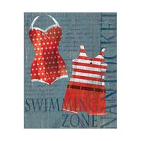 Dark Red Swimsuit Set
