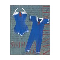 Dark Sailor Swimsuit Set