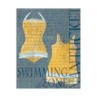 Dark Yellow Swimsuit Set