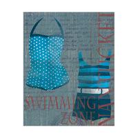 Dark Blue Swimsuit Set