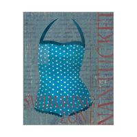 Dark Blue Polka Dots Swimsuit