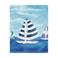 Sailboat Diptych Left