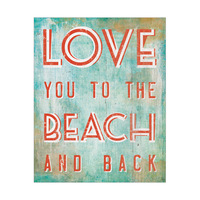 Love You To The Beach And Back Orange