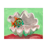 Giant Clam Shell And Fish Alpha