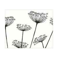 Meadow Flowers Horizontal Black on White