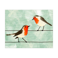Robins on Wire Sage