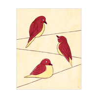 Red Birds on Wire