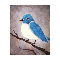 Blue Painted Bird