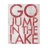 Go Jump in the Lake Red On White