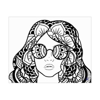 Girl with Glasses Alpha