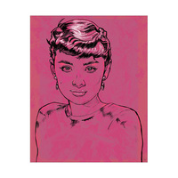 Audrey Hepburn on Fuscia