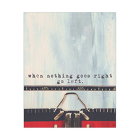 Red Typewriter When Nothing Goes Right
