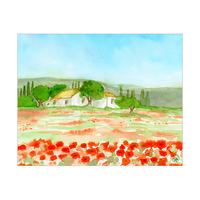 Poppies In Tuscany Alpha