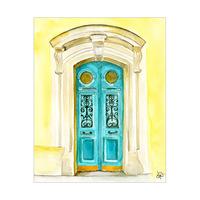 Turquoise Door Paris Alpha