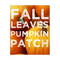 Pumpkin Typography