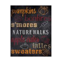 Fall Favorites Blackboard - Orange