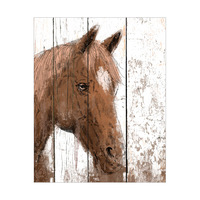Horse Portrait on Wood