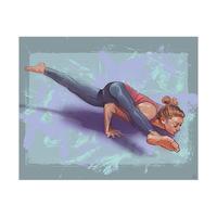 Alegra Yoga Pose on Stone and Lilac