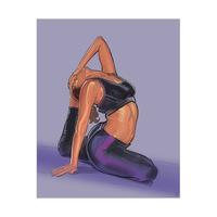 Jane Yoga Pose on Iris