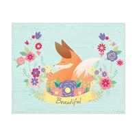 Beautiful Fox - Cyan