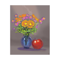 Orange Flowers with Apple