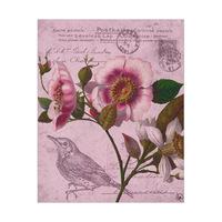Fancy Antique Flower Bird Alpha