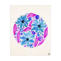 Purple Flower Bubble Alpha