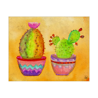 Two Cactus Pots In The Sun Alpha