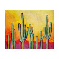 Cacti At Dawn Alpha