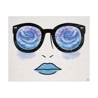 Blue Rose Glasses