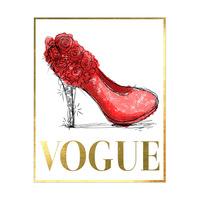 Crimson Vogue Stiletto