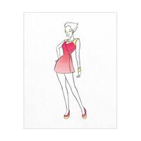 Coat Dress Fashion  -  Red