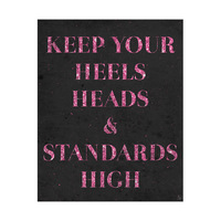 Heels Heads and Standards - Black
