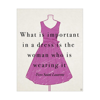Yves Saint Laurent Quote - Purple